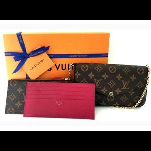 Authentic Louis Vuitton PO. felicie GM MNG Fuchs